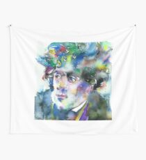 FRANCOIS-RENE DE CHATEAUBRIAND - watercolor portrait Wall Tapestry