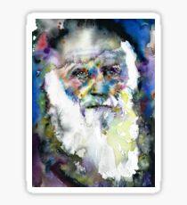 CHARLES DARWIN - watercolor portrait.9 Sticker