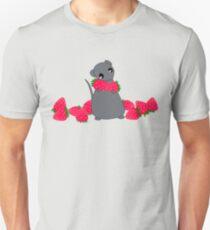 Yuki and Strawberries Unisex T-Shirt