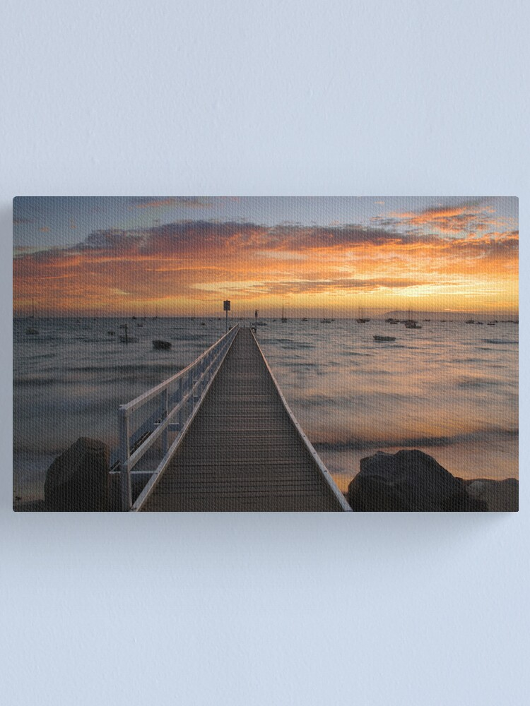 Alternate view of Camerons Bight Jetty Canvas Print