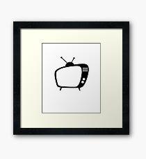 Mid Century Modern Retro TV Framed Art Print