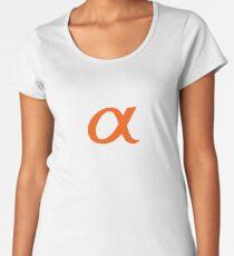 Camiseta premium para mujer Sony Alpha Apparel