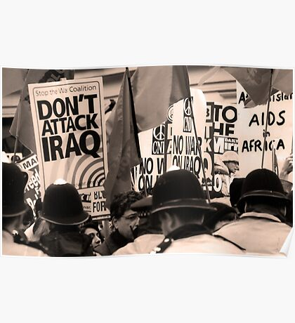 Don't Attack Iraq Poster