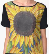 Sunflowers Chiffon Top