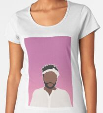 Camiseta premium de cuello ancho NIÑO GAMBINO