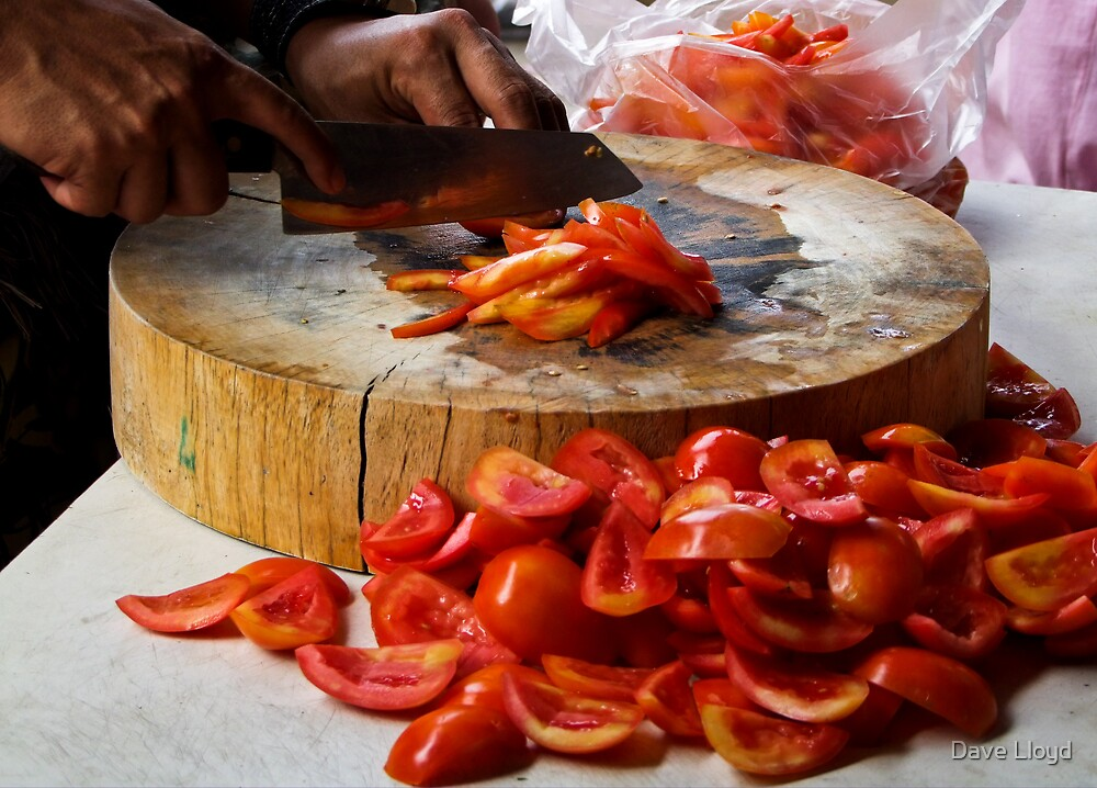 Chopping Tomatoes by Dave Lloyd