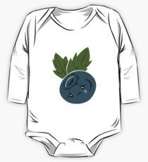 Sad blueberry crying  One Piece - Long Sleeve