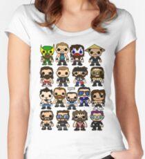 QWA Vinyl Pop-fighters Women's Fitted Scoop T-Shirt