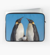 Emperor Penguins and Chick - Snow Hill Island Laptop Sleeve