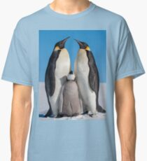 Emperor Penguins and Chick - Snow Hill Island Classic T-Shirt