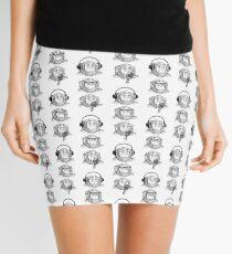 Hear Evil, See Evil, Speak Evil Mini Skirt
