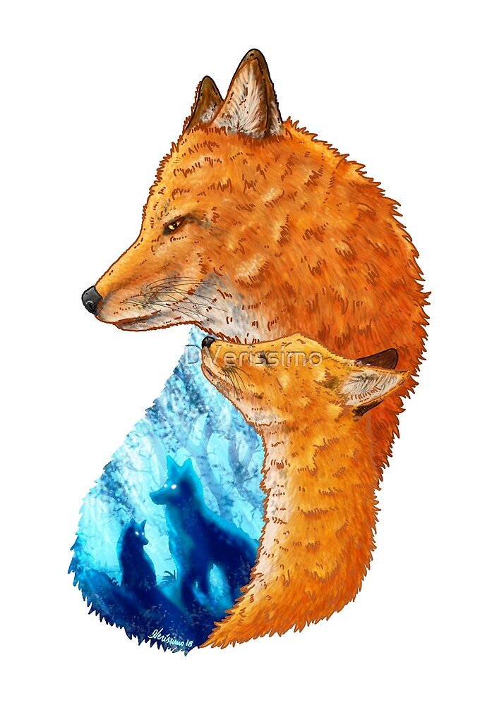 Serene Foxes by DVerissimo