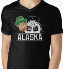 St Pattys Day Funny Shirt Alaska St Patricks Birthday Men's V-Neck T-Shirt