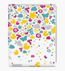 Toys falling like candies - white iPad Case/Skin