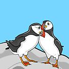 Puffin Lovebirds by Adam Regester