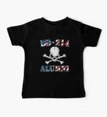 DD-214 USA Flag Shirt Gift For US Military Veteran T-shirt Baby Tee