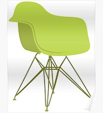 Ray & Charles Eames Lounge Chair Classic Design Poster