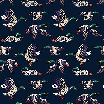 Male Mallard ducks by nokhookdesign