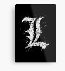 Death Note - L  Metal Print