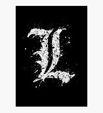 Death Note - L  Photographic Print