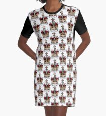 London crown Graphic T-Shirt Dress