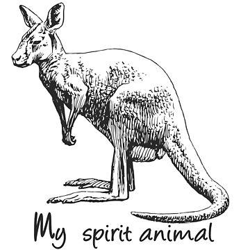 Kangaroo My spirit animal by Manikool