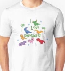 I Love Dinosaurs! (Cute) Unisex T-Shirt