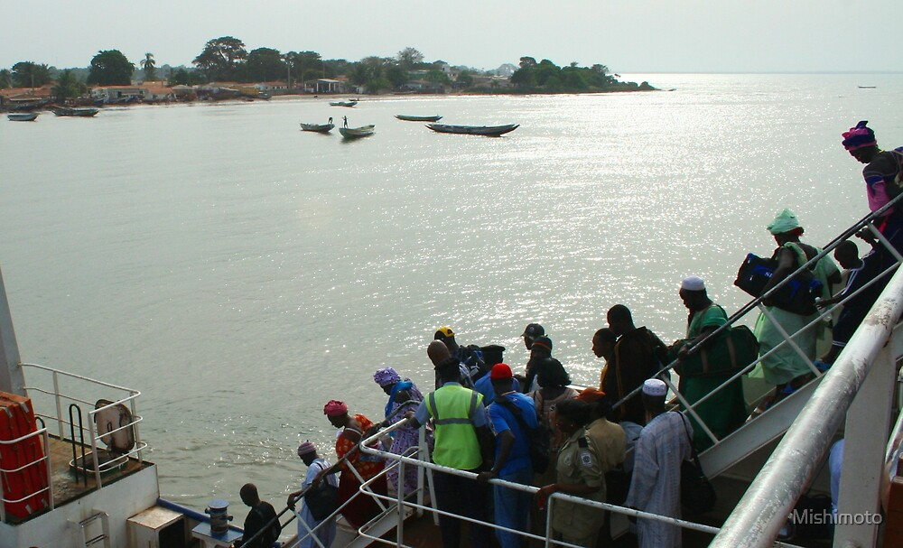 Barra from the ferry, Gambia by Mishimoto