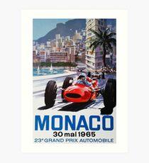 Gran Prix de Monaco 1965, Vintages Plakat, Autoplakat, Schwarzes BG Kunstdruck