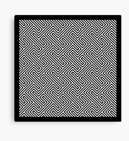 Monochrome Repeating Pattern 001 Canvas Print