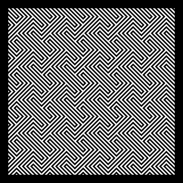 Monochrome Repeating Pattern 001 by rupertrussell