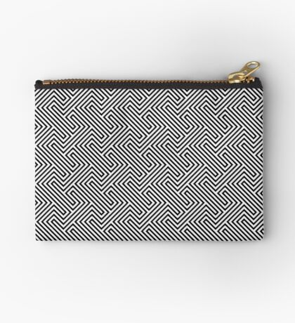 Monochrome Repeating Pattern 001 Zipper Pouch