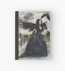 Raven Fairy Crow Witch Blackbird Corn Moon Hardcover Journal