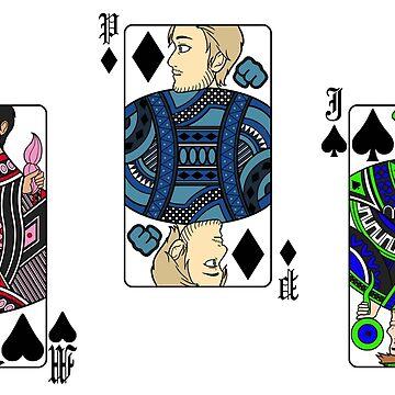 Deck of Cards - Markiplier, PewDiePie and Jacksepticeye by PhoenixMunro