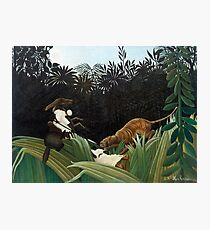 Henri Rousseau - Scouts Attacked by a Tiger Photographic Print