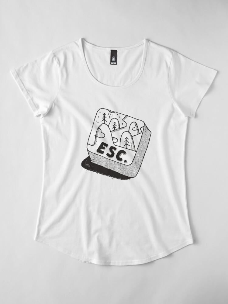 Alternate view of Escape Premium Scoop T-Shirt
