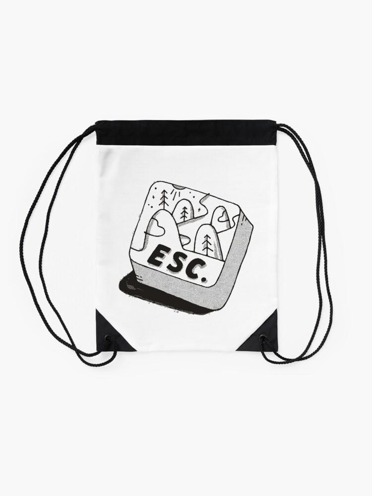 Alternate view of Escape Drawstring Bag
