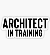 Architect In Training Art College School Graduation Sticker