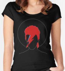David Bowie Tribute Tailliertes Rundhals-Shirt