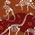 Dinosaur Fossil Pattern by latheandquill