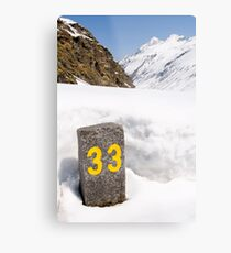 33 Metal Print