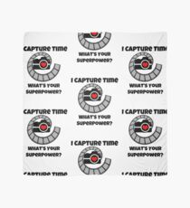 I Capture Time What's Your Super Power Camera and Film Design Scarf