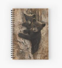 Black Bear Cubs - Curious Cubs Spiral Notebook
