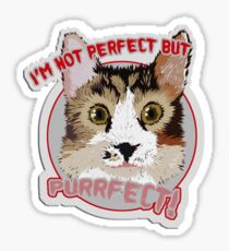 "MUG / CUP - Bilbo: ""I'm not perfect but PURRfect!"" Sticker"