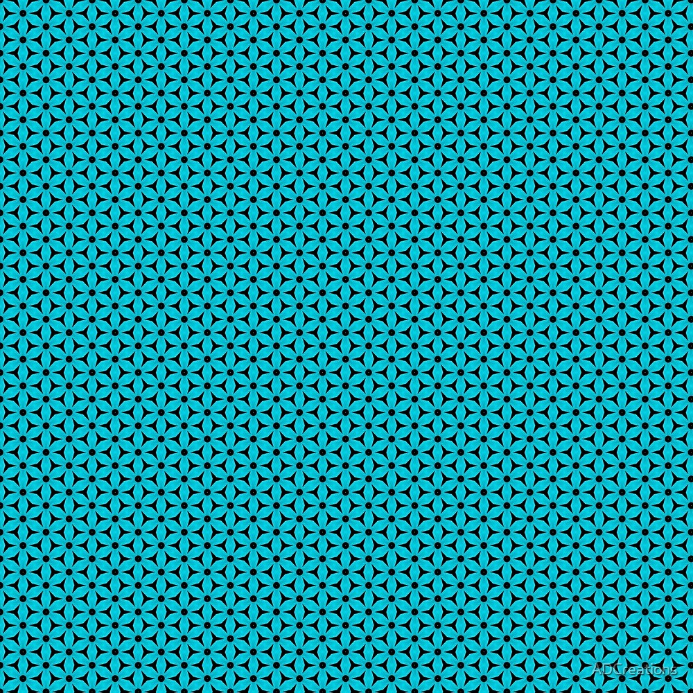 Abstract Turquoise Pattern 8 by ADCreations