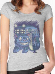 CatTardis Parody Women's Fitted Scoop T-Shirt
