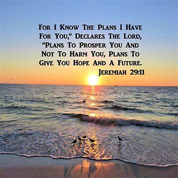 BEAUTIFUL JEREMIAH 29:11 SUNRISE ON THE OCEAN PHOTO by JLPOriginals