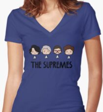 The Supremes Woman Cute Kawaii Chibi Head Women's Fitted V-Neck T-Shirt