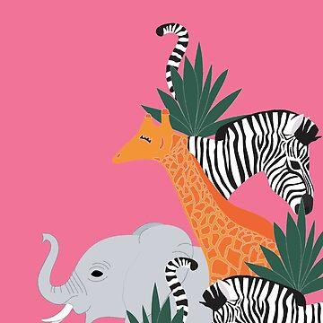 On Safari Placement Print by LizWallflower