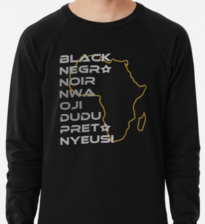 BLACK in Every Language Lightweight Sweatshirt